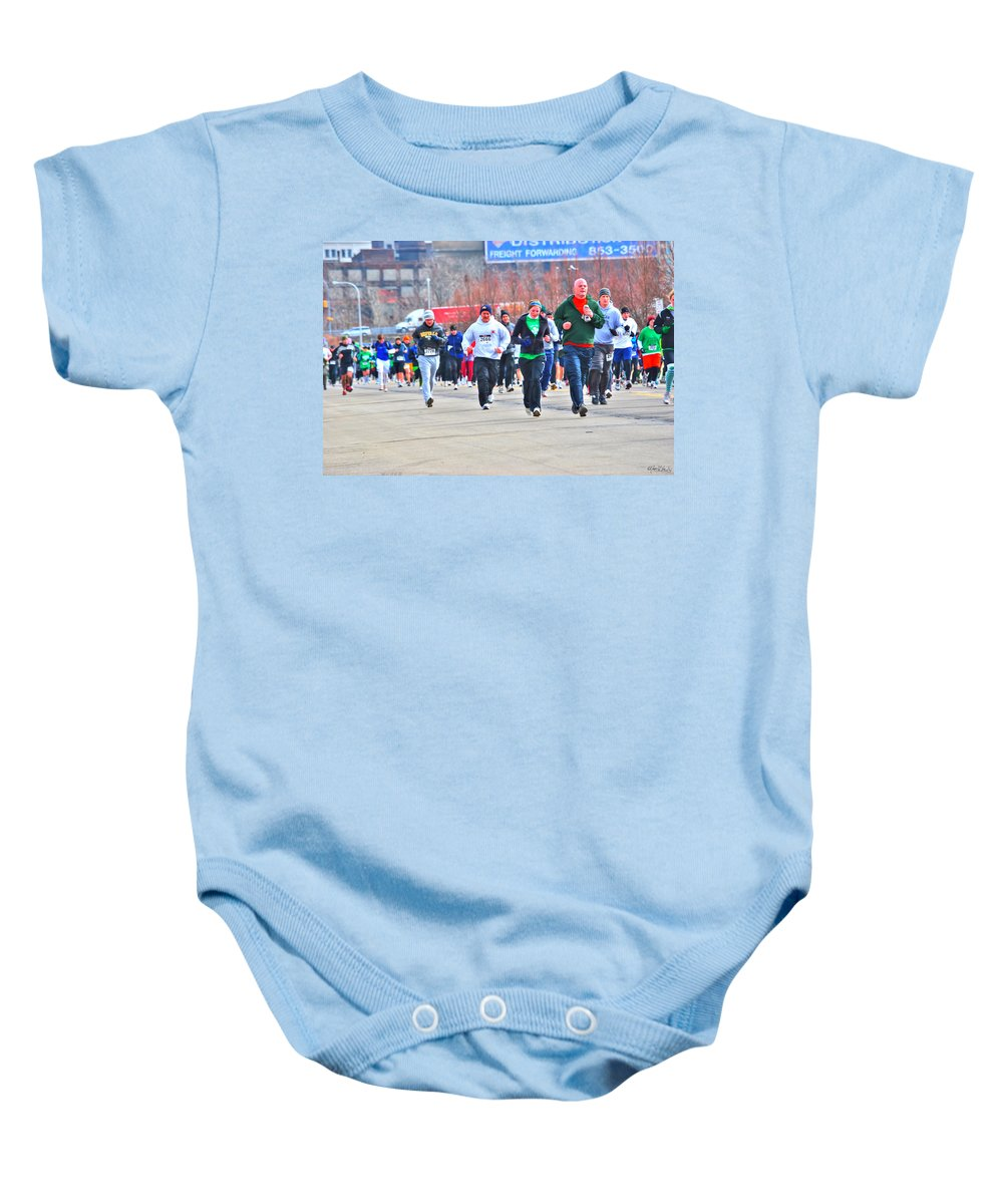 Baby Onesie featuring the photograph 032 Shamrock Run Series by Michael Frank Jr