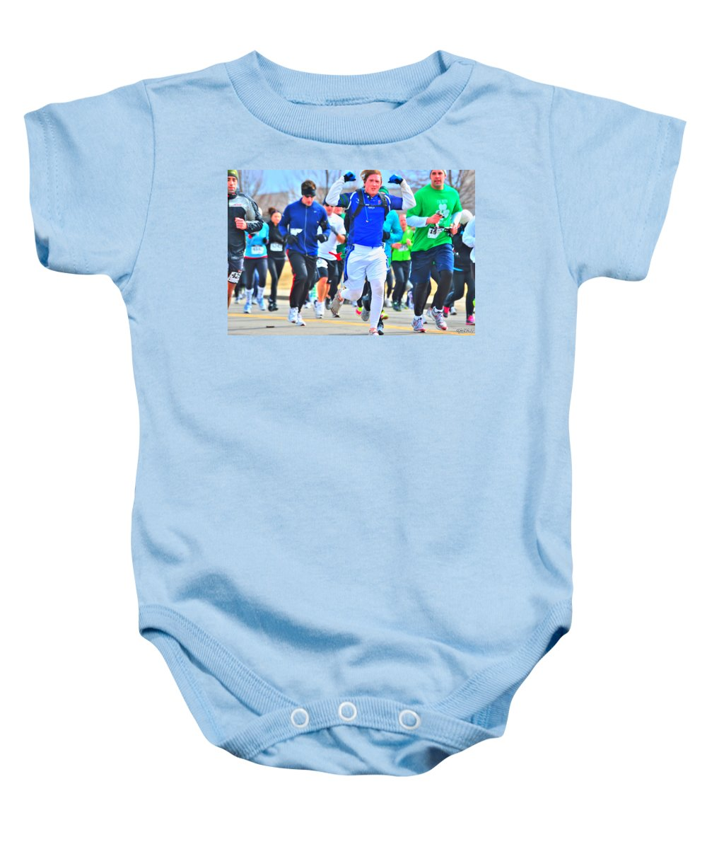 Baby Onesie featuring the photograph 033 Shamrock Run Series by Michael Frank Jr