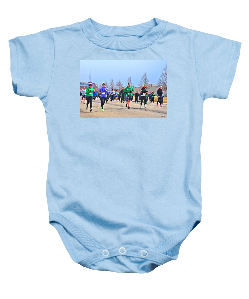 Baby Onesie featuring the photograph 041 Shamrock Run Series by Michael Frank Jr