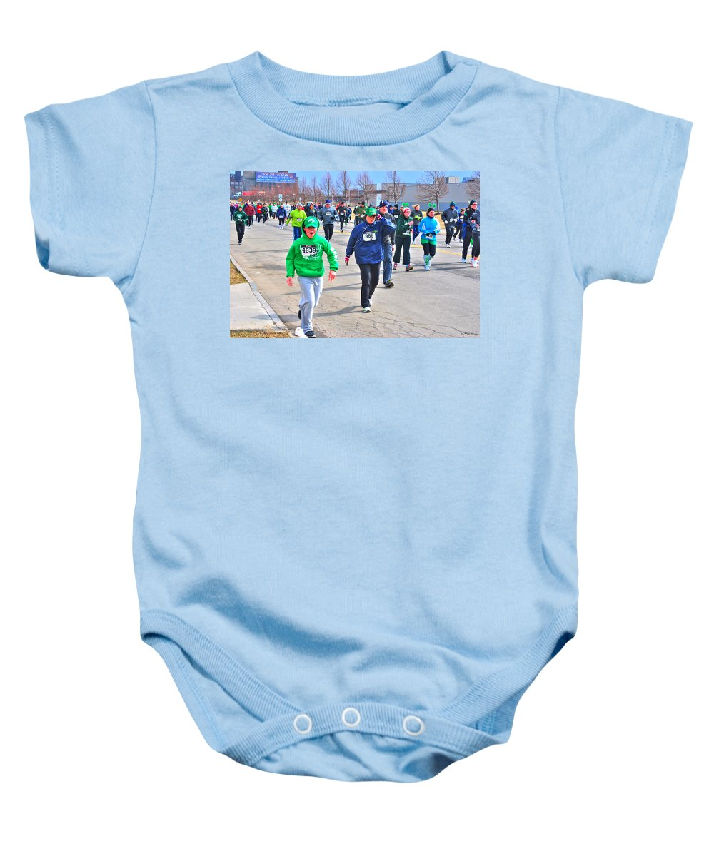 Baby Onesie featuring the photograph 042 Shamrock Run Series by Michael Frank Jr