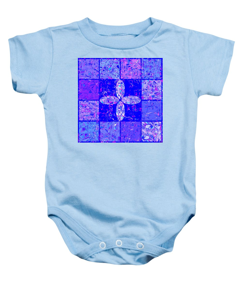 Abstract Baby Onesie featuring the digital art 0674 Abstract Thought by Chowdary V Arikatla