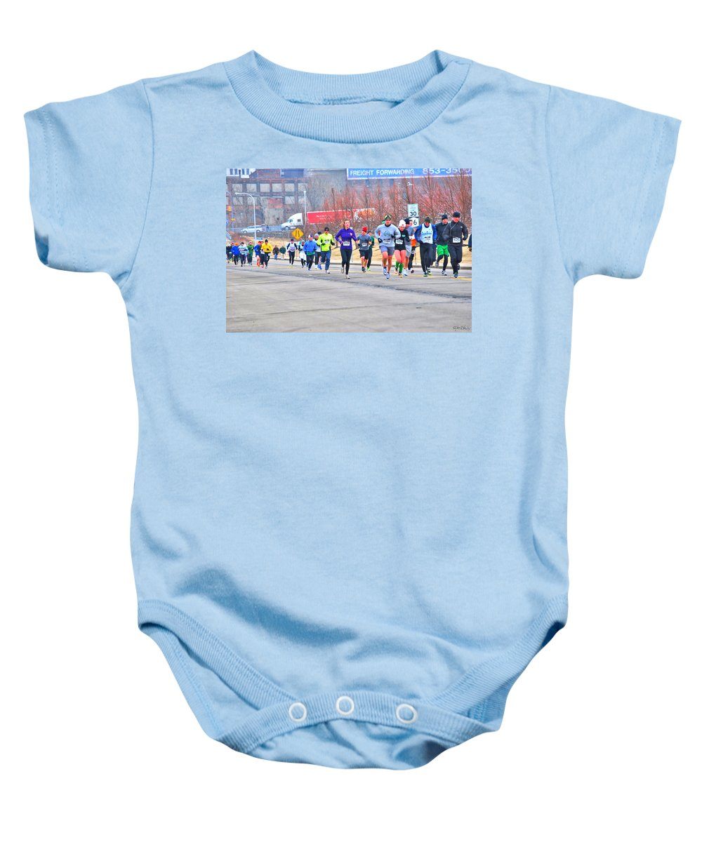 Baby Onesie featuring the photograph 014 Shamrock Run Series by Michael Frank Jr