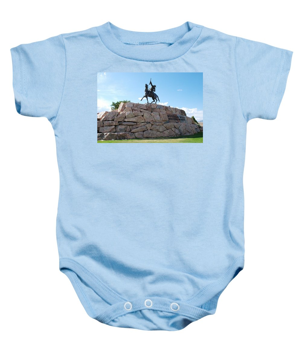 Baby-boomer Baby Onesie featuring the photograph Buffalo Bill by Dany Lison