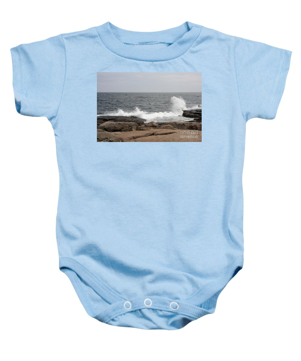Waves Baby Onesie featuring the photograph Crashing Waves by Christiane Schulze Art And Photography