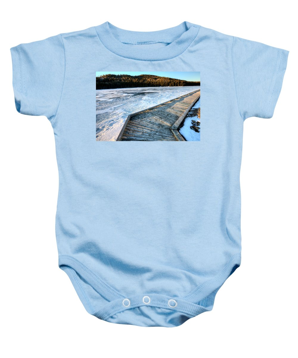 Landscape Baby Onesie featuring the photograph Cypress Hills Alberta by Mark Duffy