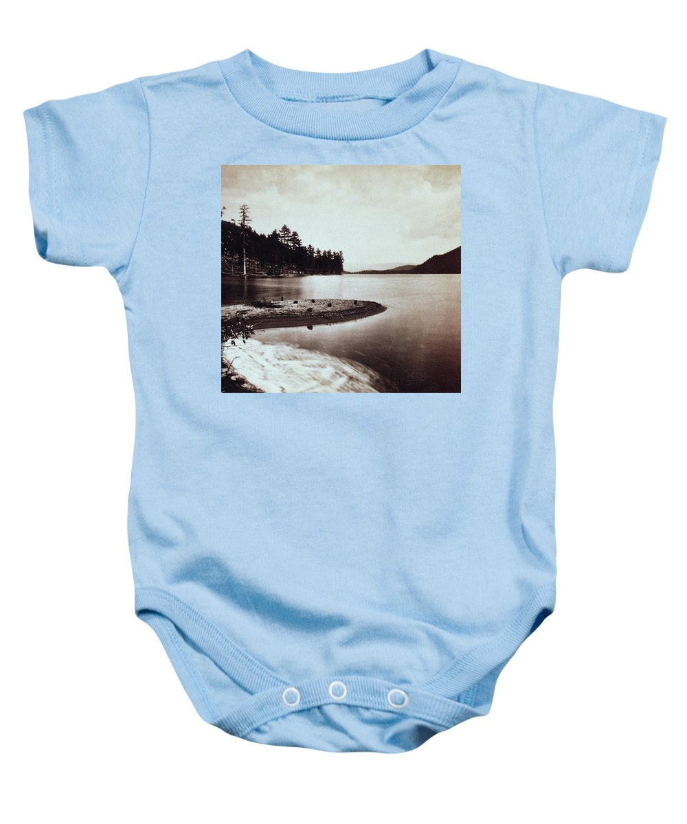 donner Lake Baby Onesie featuring the photograph Donner Lake - California - C 1865 by International Images