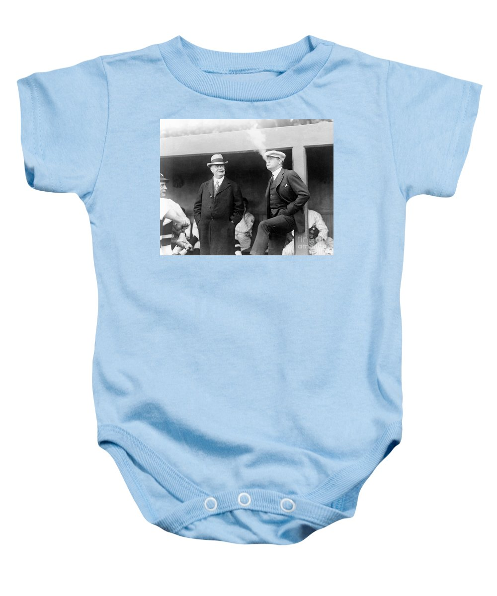 1922 Baby Onesie featuring the photograph Johnson & Ruth, 1922 by Granger