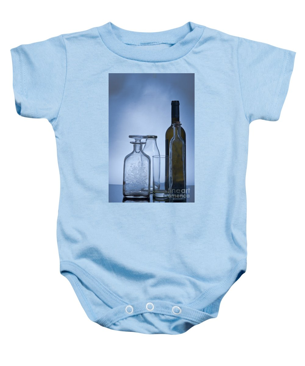 Assortment Baby Onesie featuring the photograph Still Life Of Bottles by Ilan Amihai