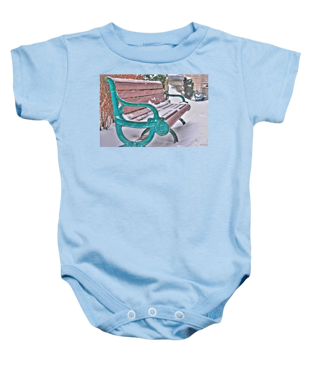 Baby Onesie featuring the photograph Still Waiting by Michael Frank Jr