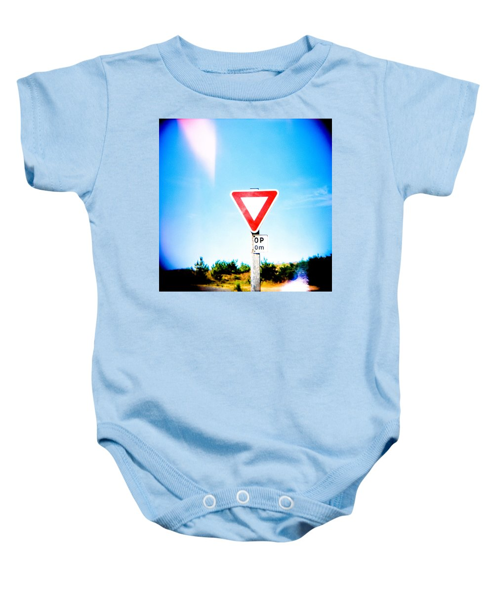Holga Baby Onesie featuring the photograph Stop by Olivier De Rycke