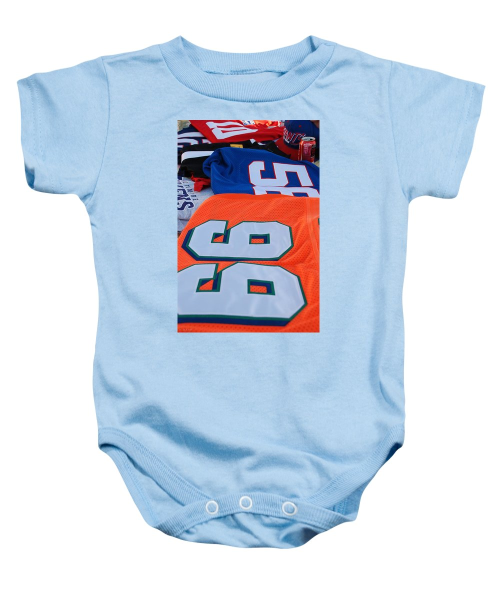 New York Giants Baby Onesie featuring the photograph 10 56 99 by Rob Hans