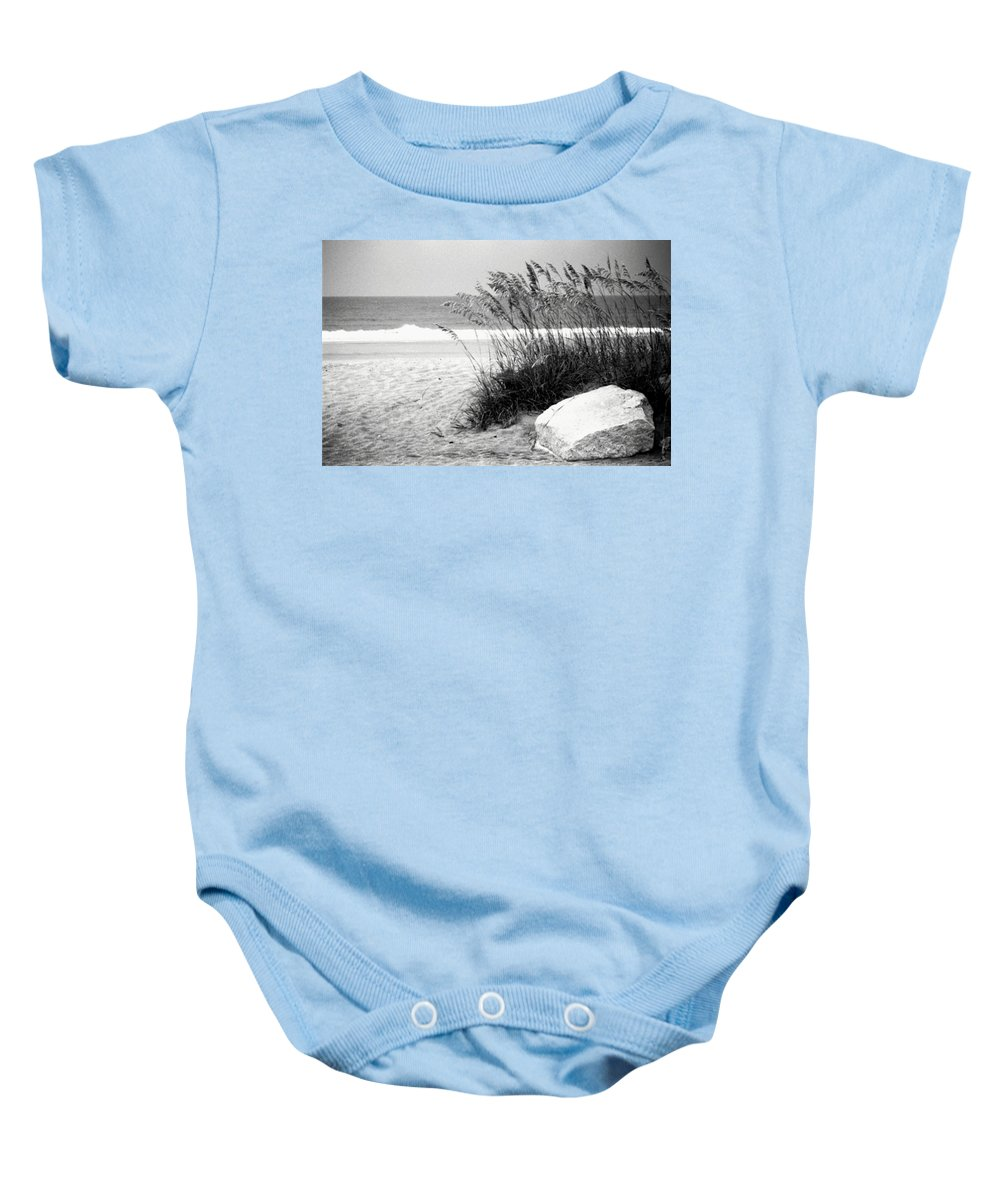 Jacksonville Beach Baby Onesie featuring the photograph 12th South by Phil Cappiali Jr