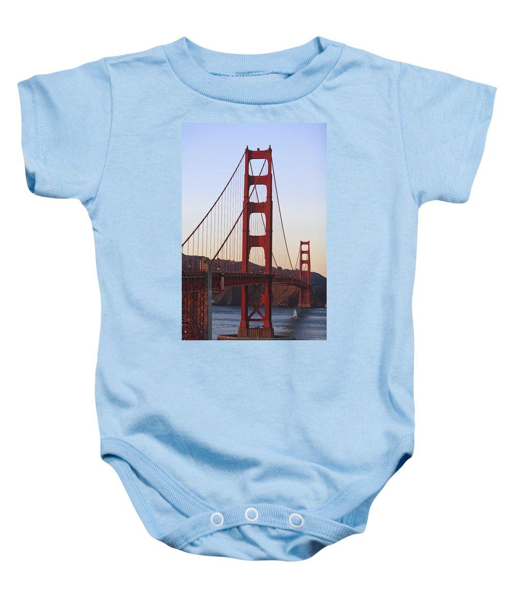 Blue Sky Baby Onesie featuring the photograph Golden Gate Bridge San Francisco by Stuart Westmorland