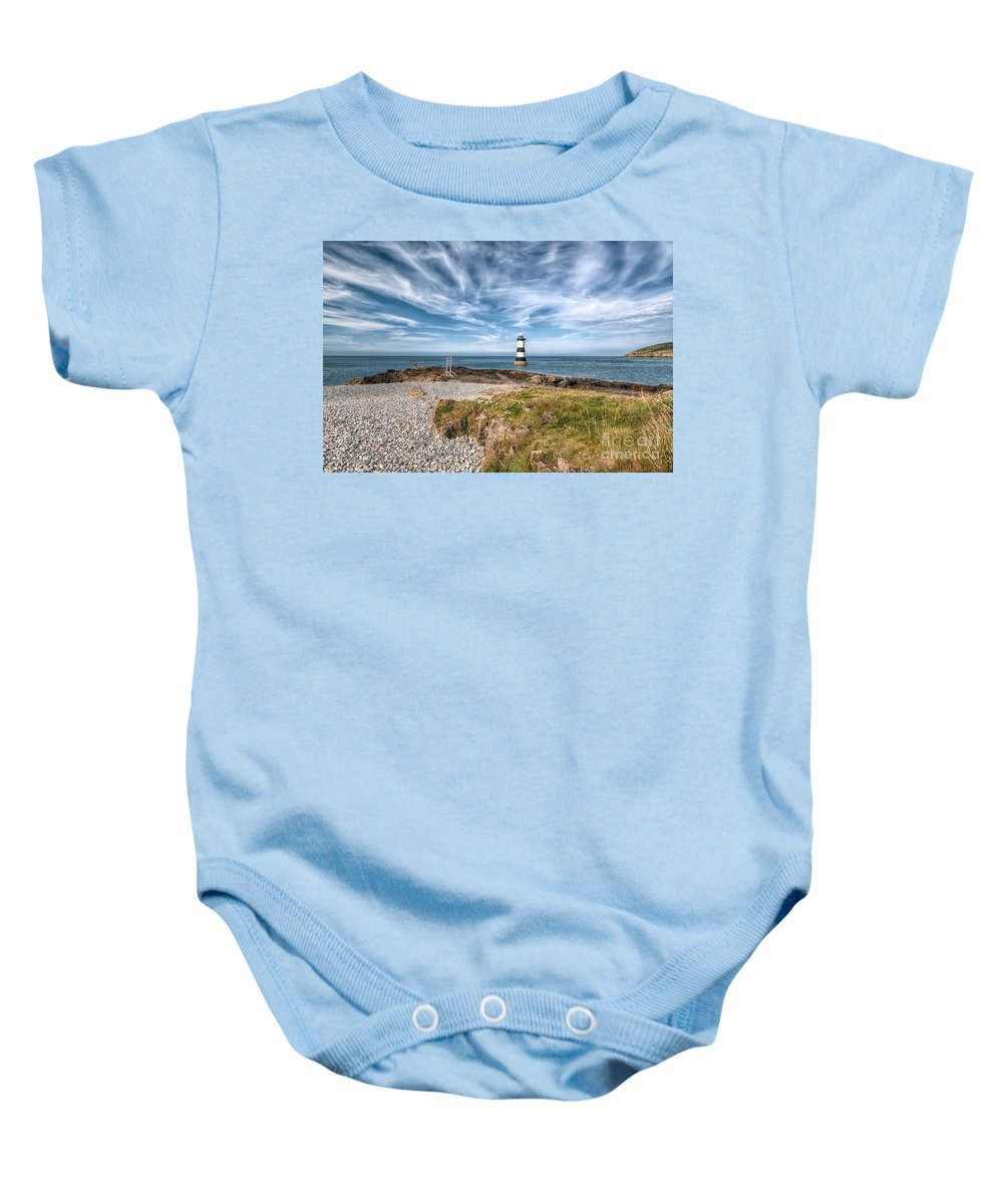 Anglesey Baby Onesie featuring the photograph Penmon Point by Adrian Evans