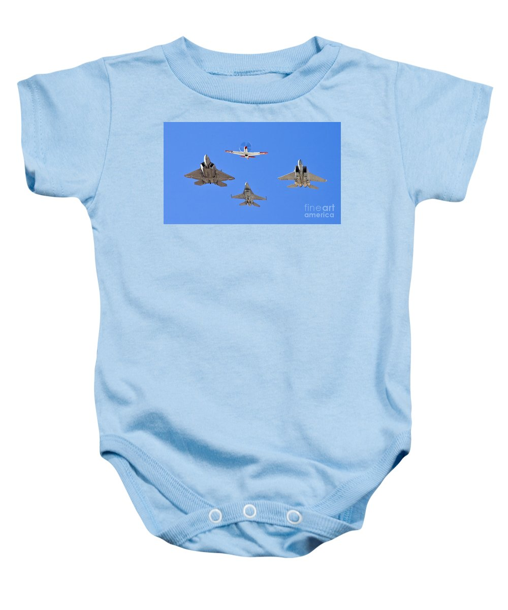 Usaf Baby Onesie featuring the photograph 3 Generations by Tim Mulina