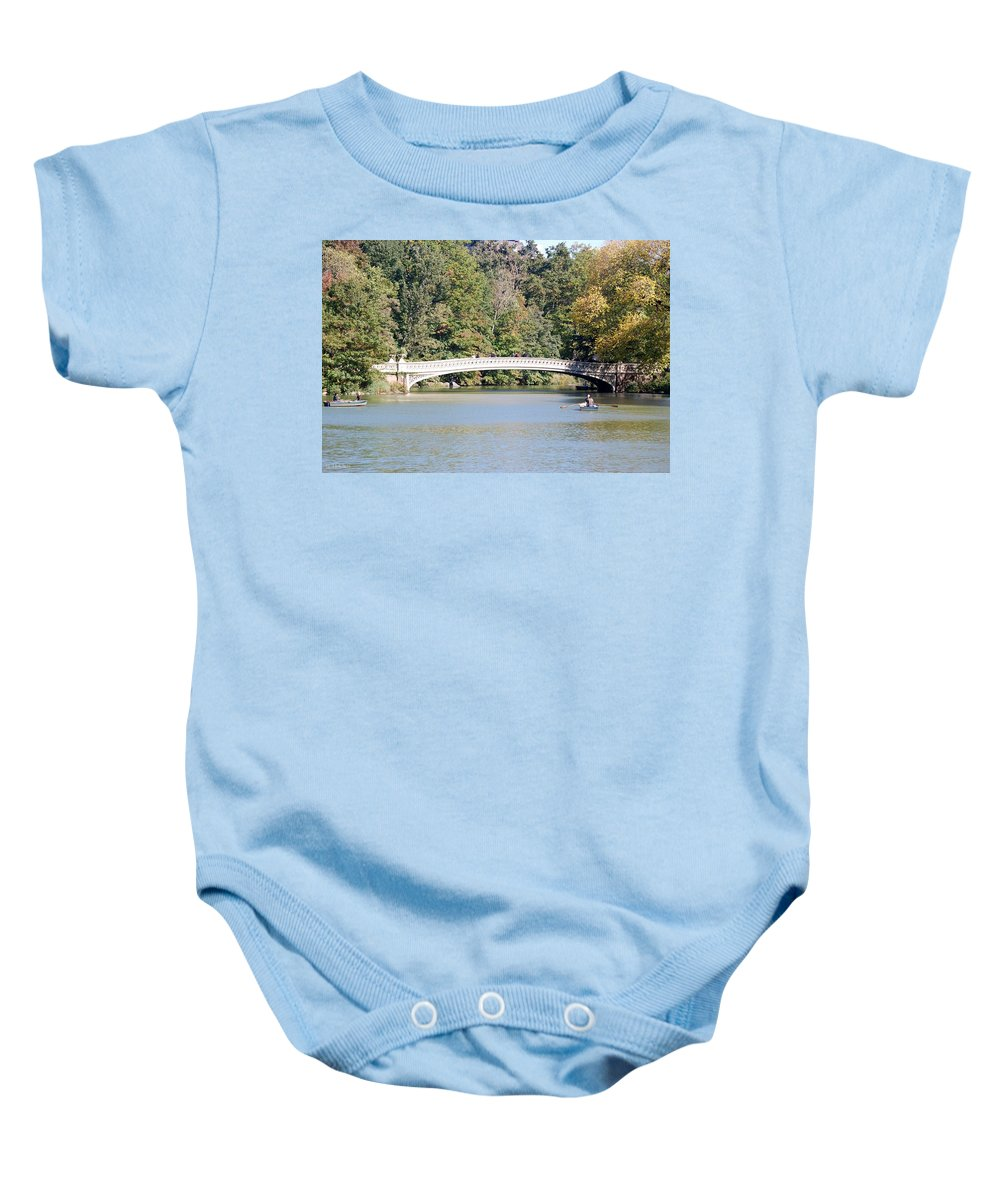 Central Park Baby Onesie featuring the photograph Bow Bridge by Rob Hans