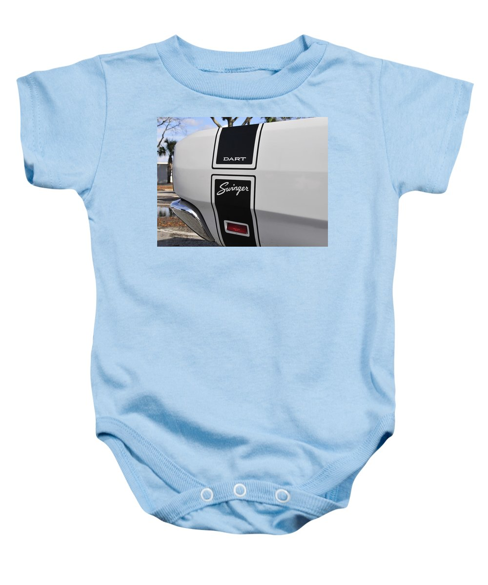 Fine Art Photography Baby Onesie featuring the photograph 69 Dart Swinger by David Lee Thompson