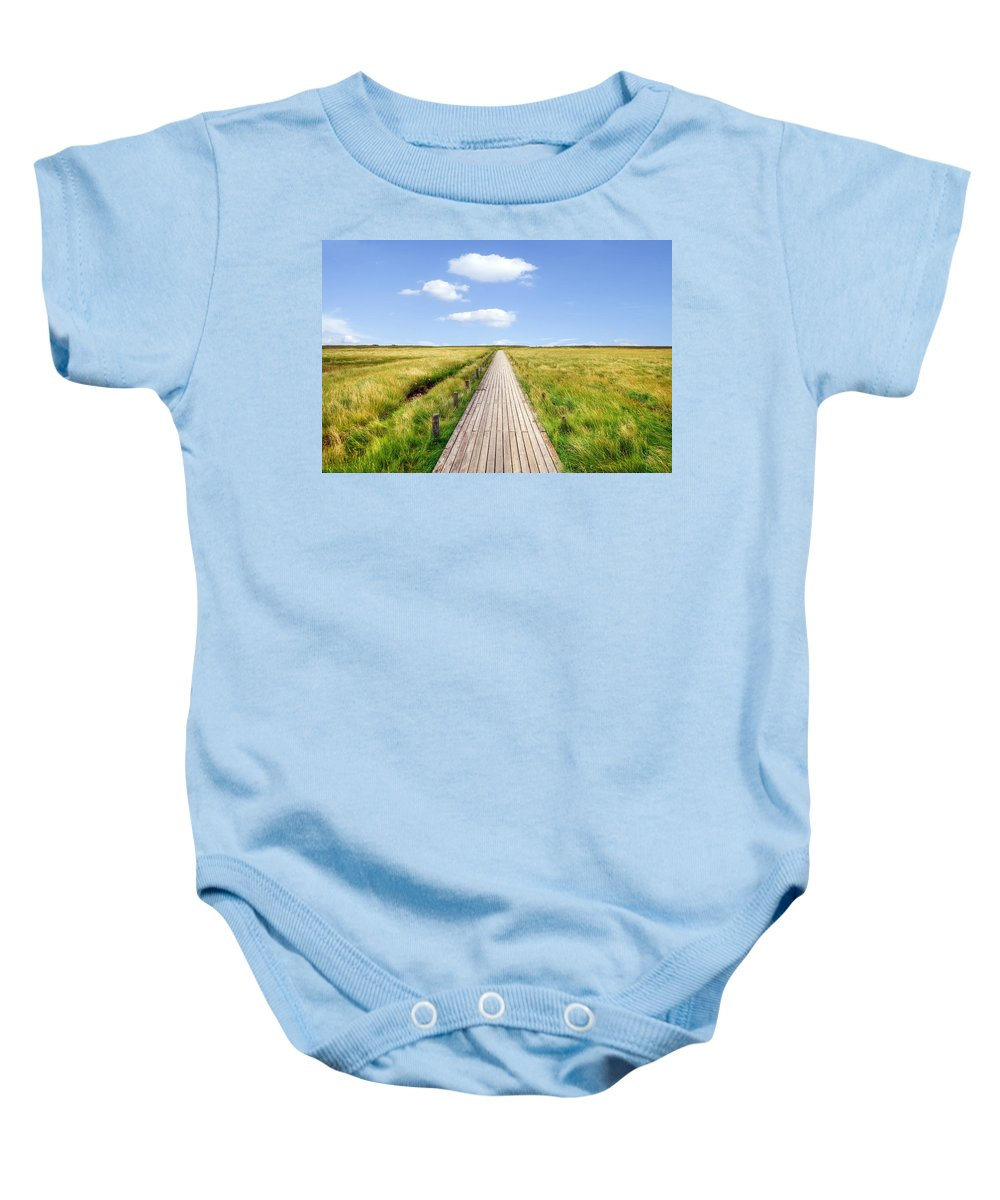 Boardwalk Baby Onesie featuring the photograph Kampen - Sylt by Joana Kruse