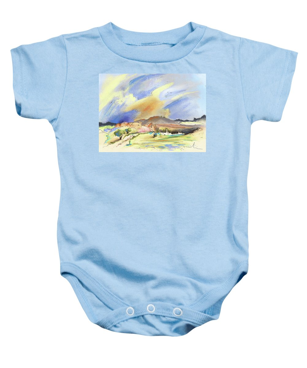 Landscapes Baby Onesie featuring the painting Almeria Region In Spain 01 by Miki De Goodaboom
