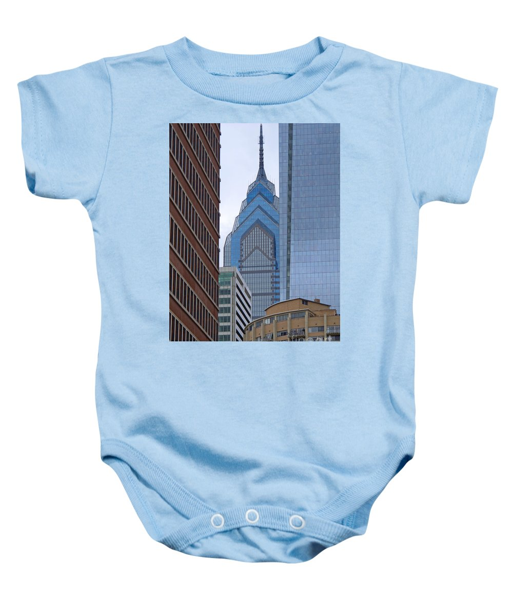 Philadelphia Baby Onesie featuring the photograph Architectural Miscellany by Ann Horn