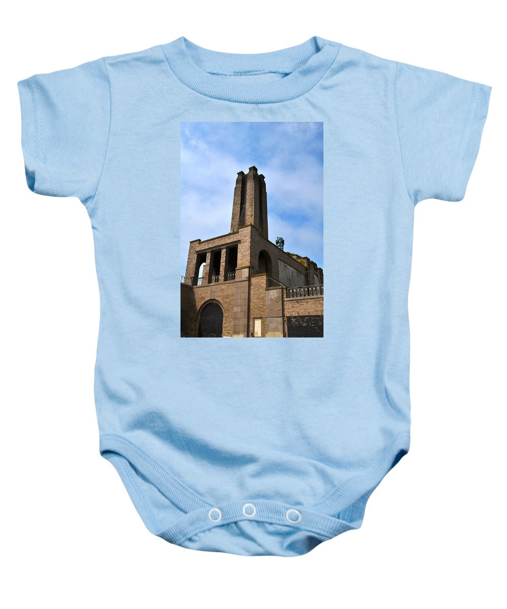 Asbury Park Baby Onesie featuring the photograph Asbury Sky by Catherine Conroy