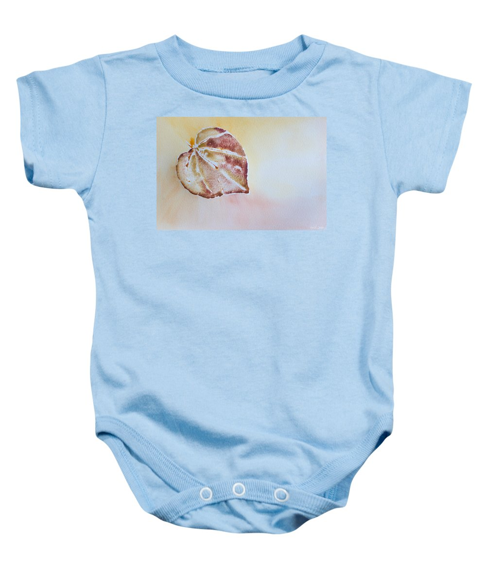 Watercolor Baby Onesie featuring the painting Autumn Shimmer by Heidi Smith