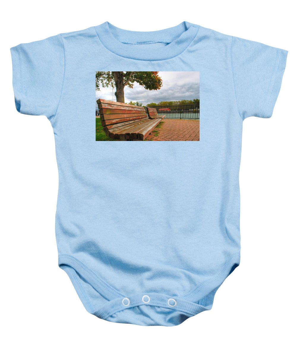 Baby Onesie featuring the photograph Awaiting by Michael Frank Jr
