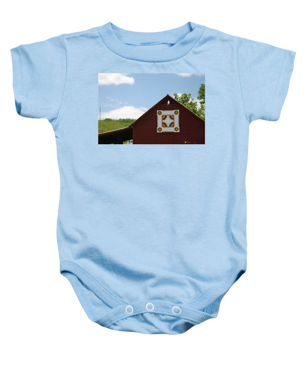 Barn Baby Onesie featuring the photograph Barn Quilt - 2 by Leann DeBord