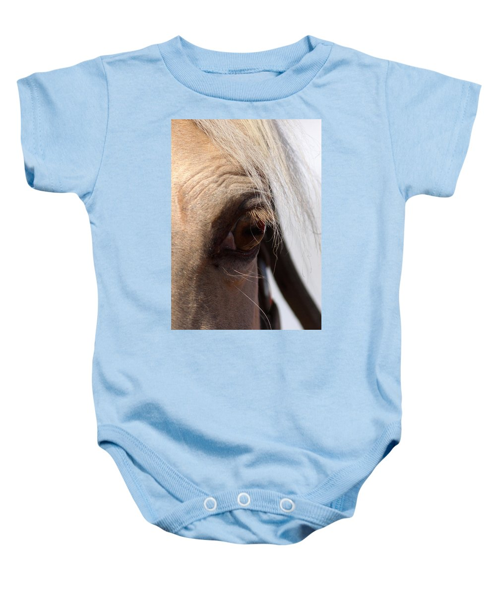 Horse Baby Onesie featuring the photograph Benson Mule Days by Travis Truelove