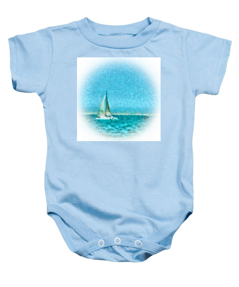 Sea Baby Onesie featuring the photograph Blue Bayou by Trish Tritz