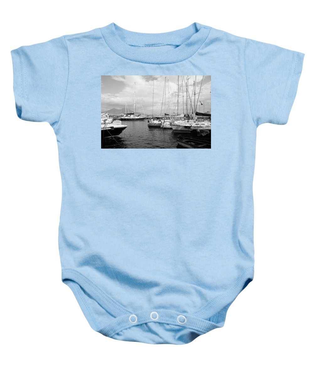 Boats Baby Onesie featuring the photograph Boats Meeting by La Dolce Vita
