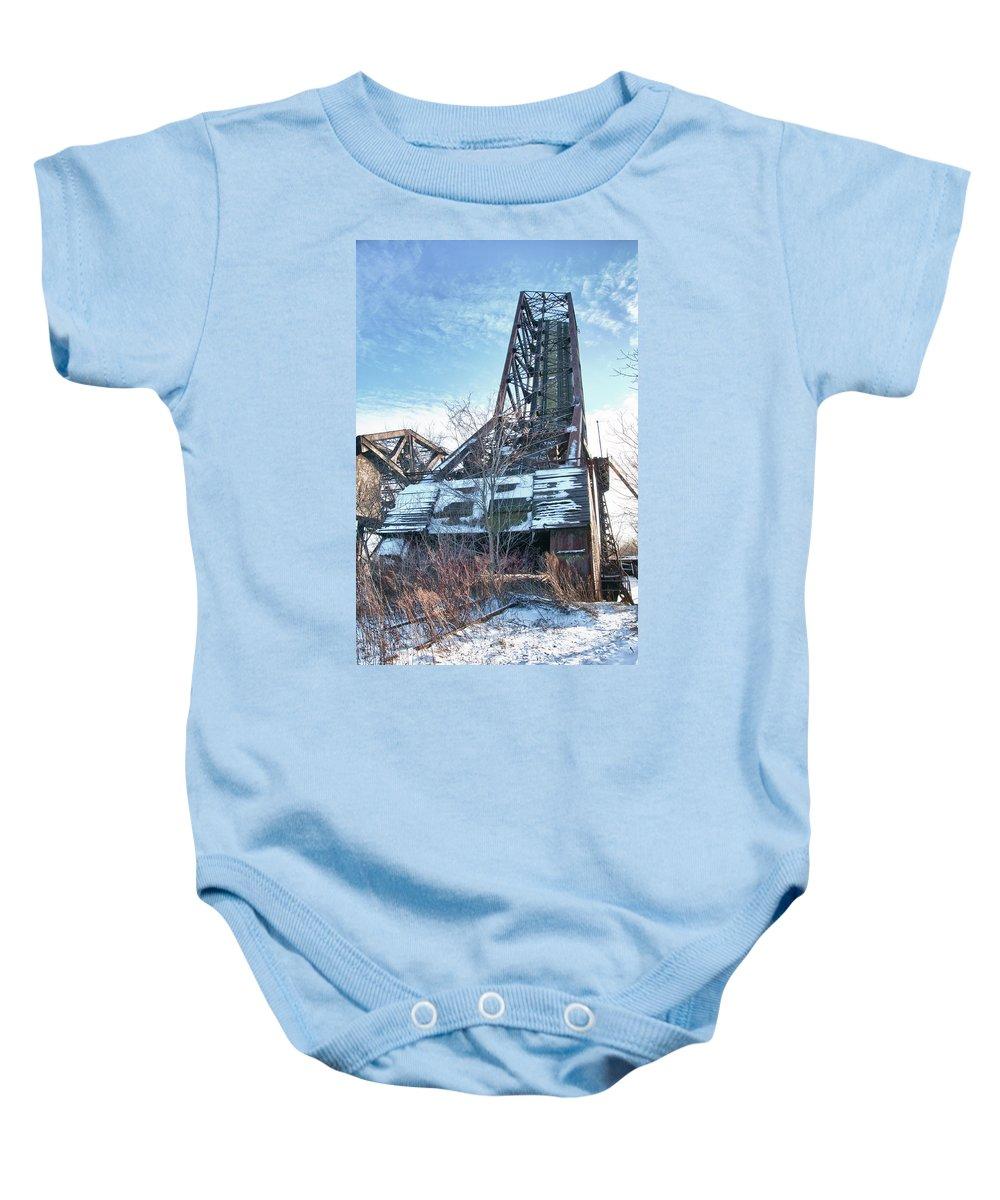 Bridges Baby Onesie featuring the photograph Buffalo Bridges 10624c by Guy Whiteley