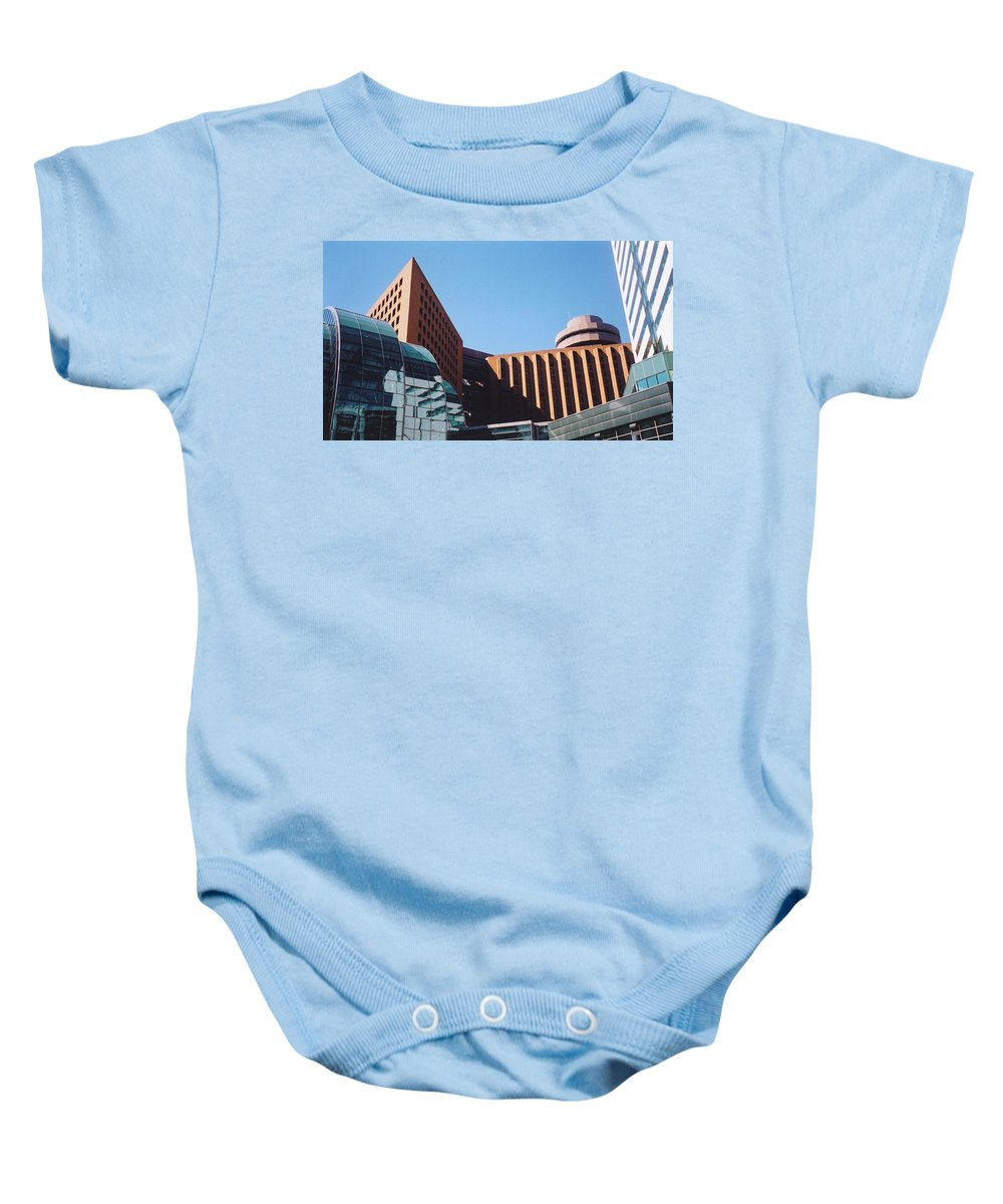 Building Shapes Baby Onesie featuring the photograph Building Shapes by Denise Keegan Frawley