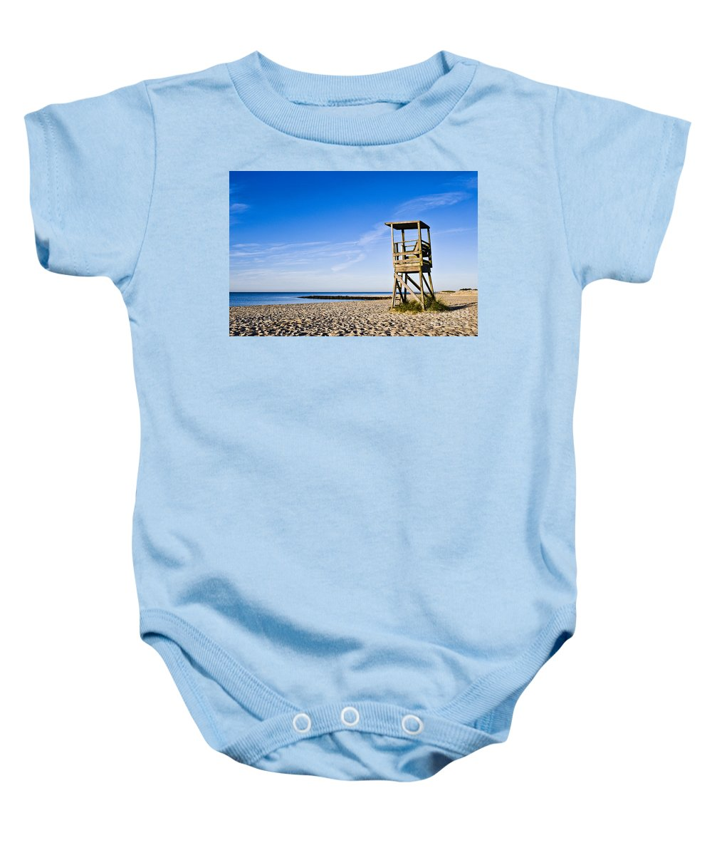 Beach Baby Onesie featuring the photograph Cape Cod Lifeguard Stand by John Greim