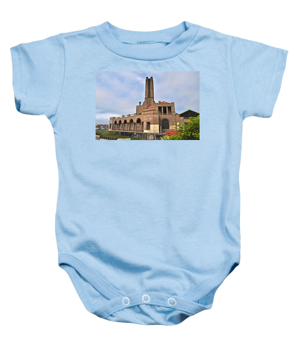 Asbury Park Baby Onesie featuring the photograph Casino Building by Catherine Conroy