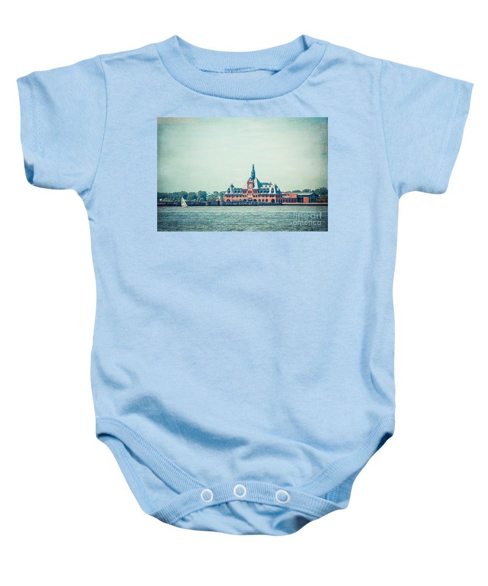 Nyc Baby Onesie featuring the photograph Central Railroad Terminal Of New Jersey by Hannes Cmarits