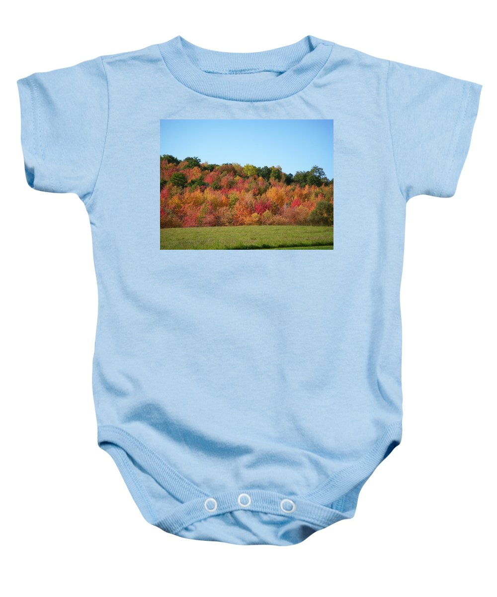 Autumn Baby Onesie featuring the photograph Changing Seasons by Aimee L Maher ALM GALLERY