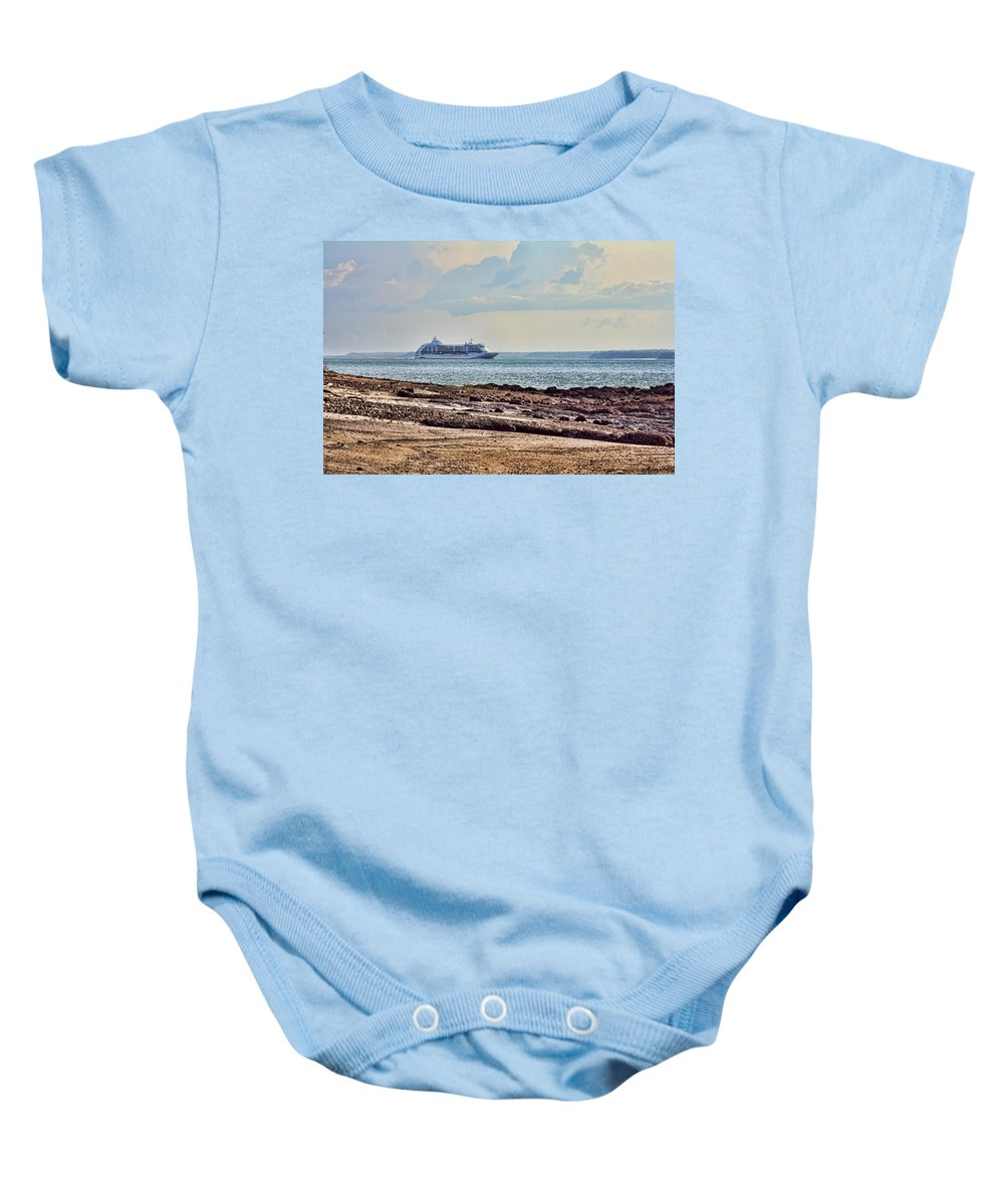 Cruise Ship Baby Onesie featuring the photograph Charting The North East Passage by Douglas Barnard