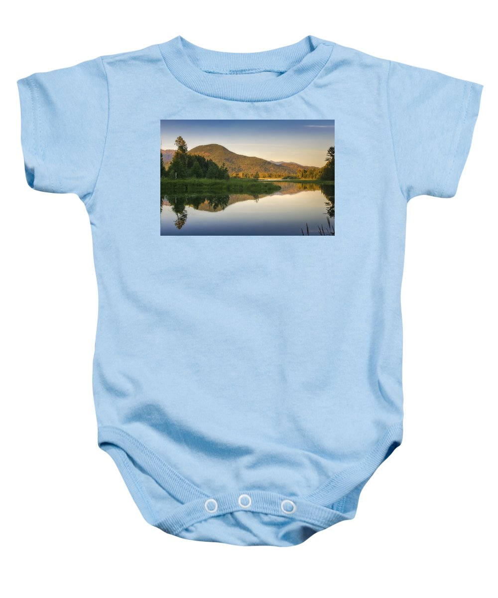 Clark Fork Baby Onesie featuring the photograph Clark Fork Delta 3 by Albert Seger