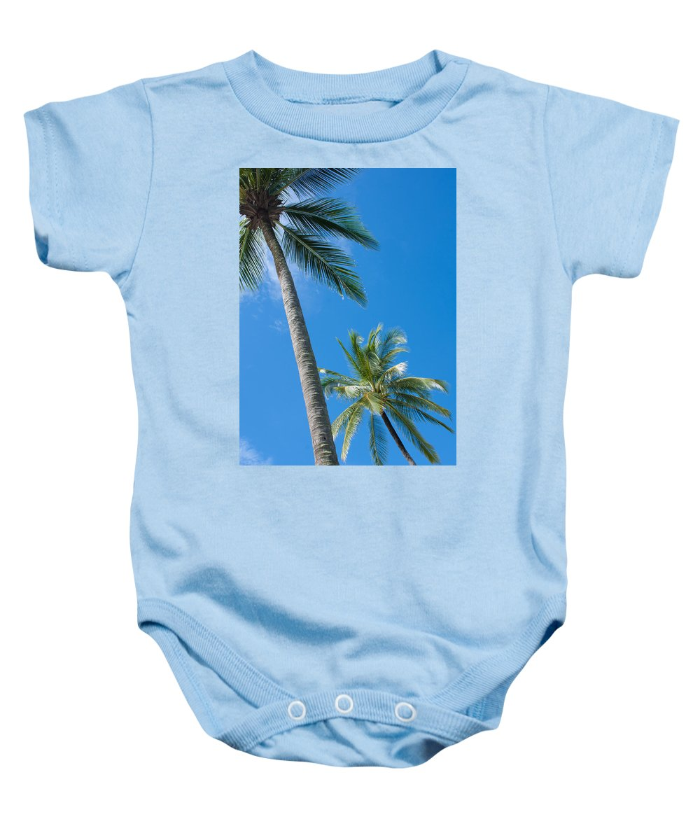 Background Baby Onesie featuring the photograph Coconuts by Atiketta Sangasaeng