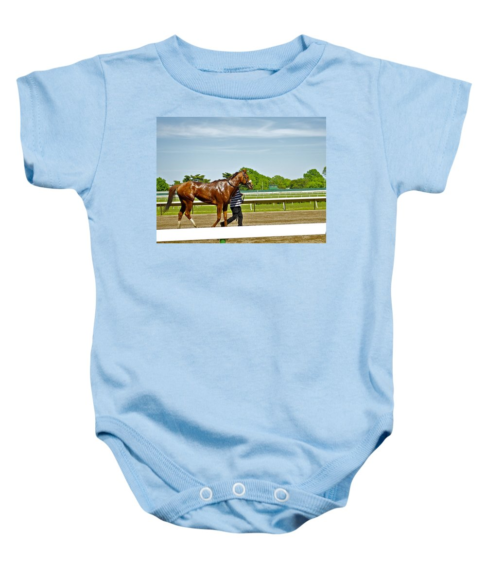Monmouth Park Baby Onesie featuring the photograph Cooling Off by Catherine Conroy