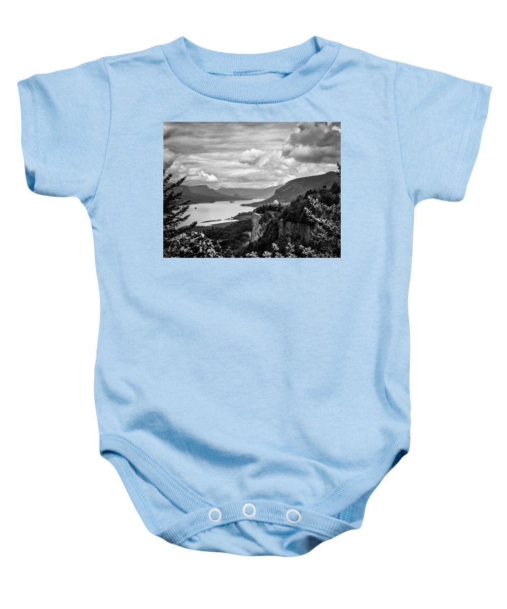 Crown Point Baby Onesie featuring the photograph Crown Point Two by Mike Penney