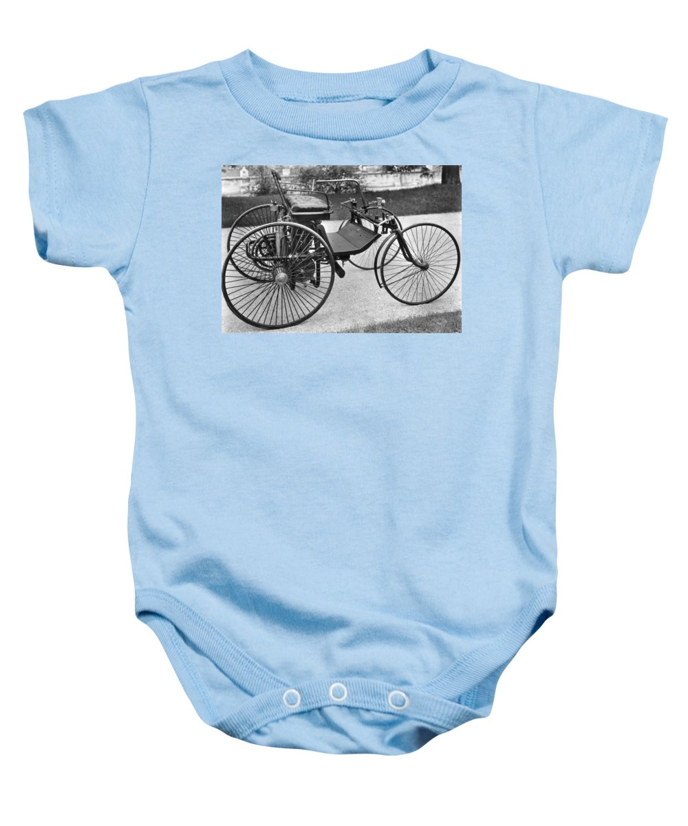 1889 Baby Onesie featuring the photograph Daimler Automobile, 1889 by Granger