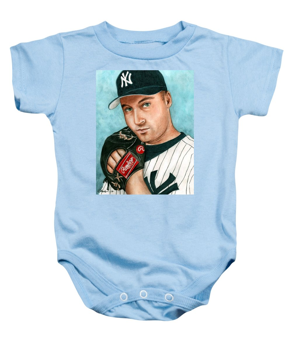low priced 3a68b c8509 Derek Jeter Baby Onesie