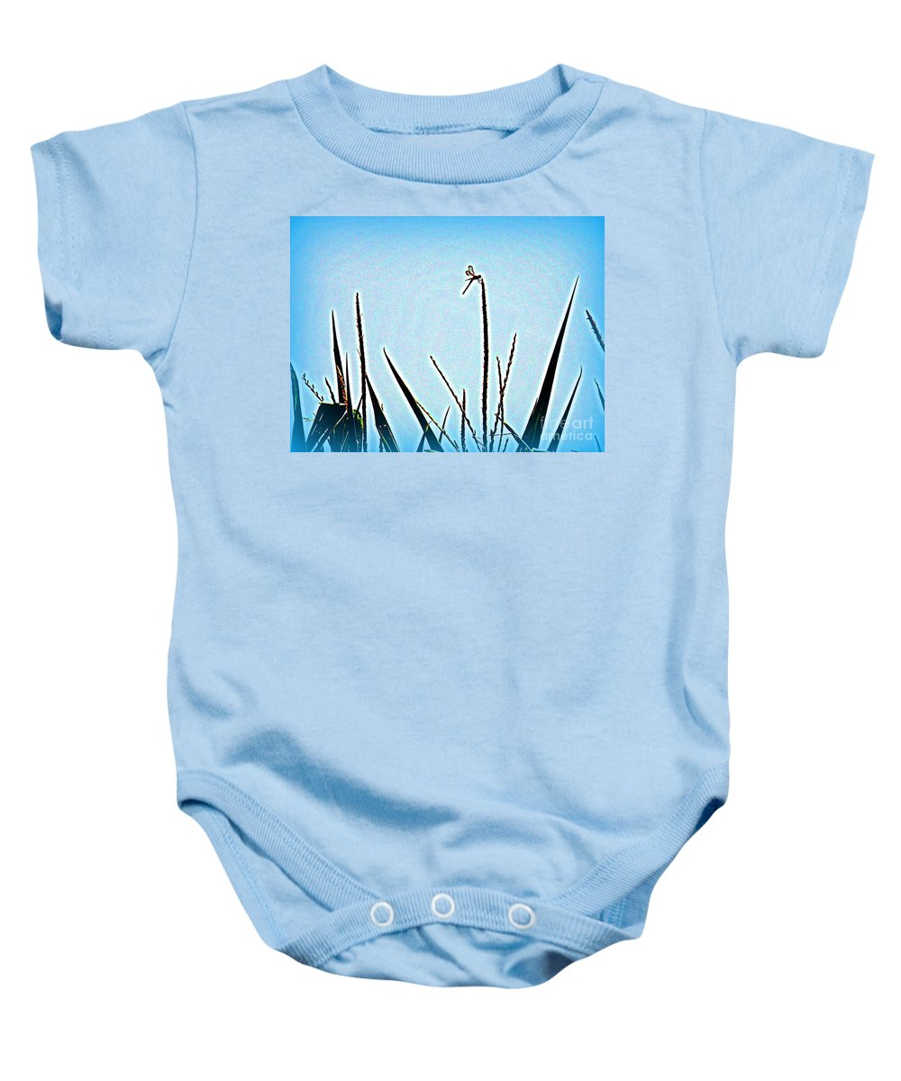 Dragonfly Baby Onesie featuring the photograph Dragonfly Magic by Lainie Wrightson