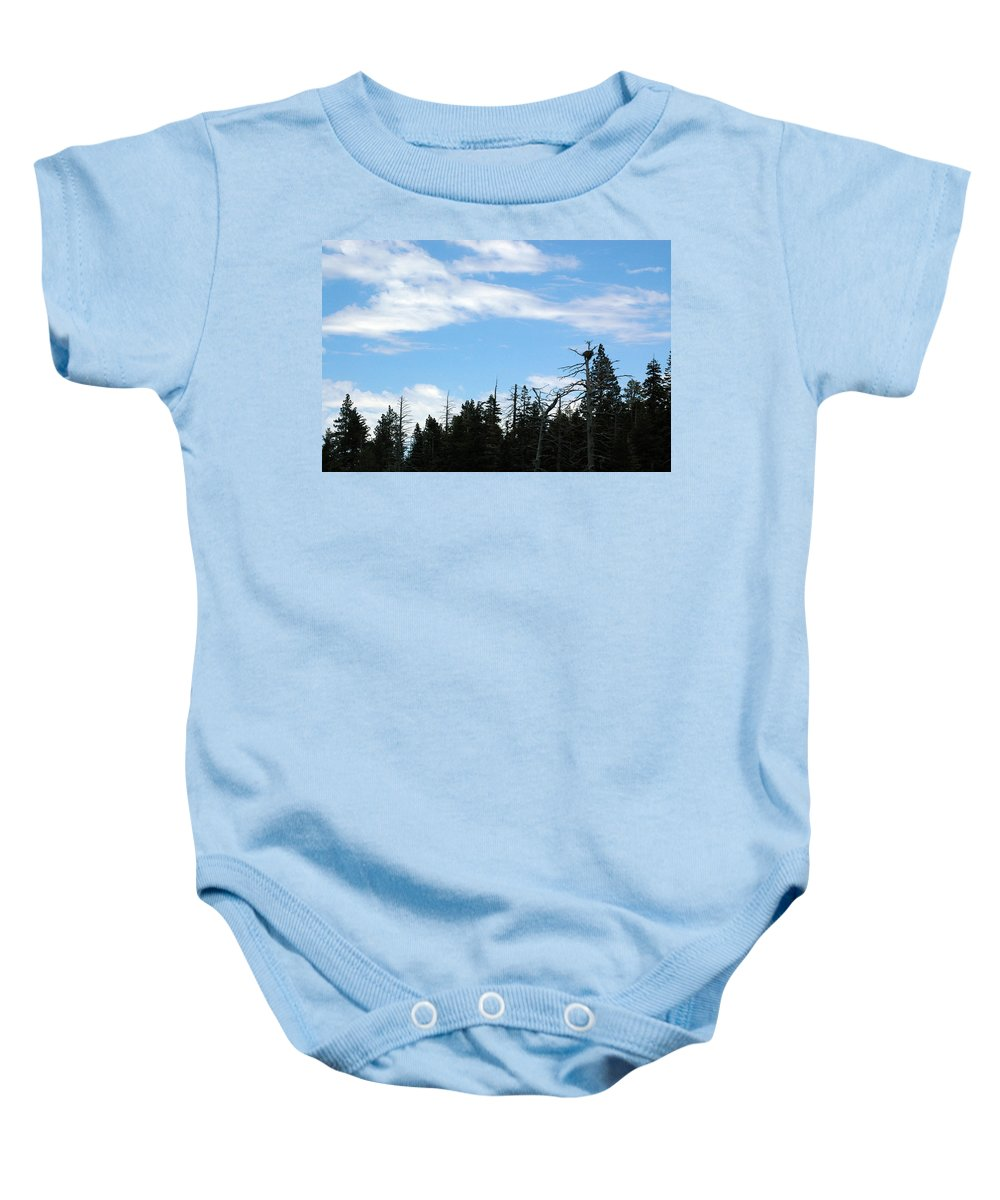 Usa Baby Onesie featuring the photograph Eagles Nest Lake Tahoe by LeeAnn McLaneGoetz McLaneGoetzStudioLLCcom