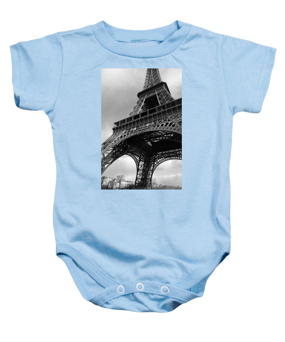 Archival Baby Onesie featuring the photograph Eiffel Tower by David DuChemin