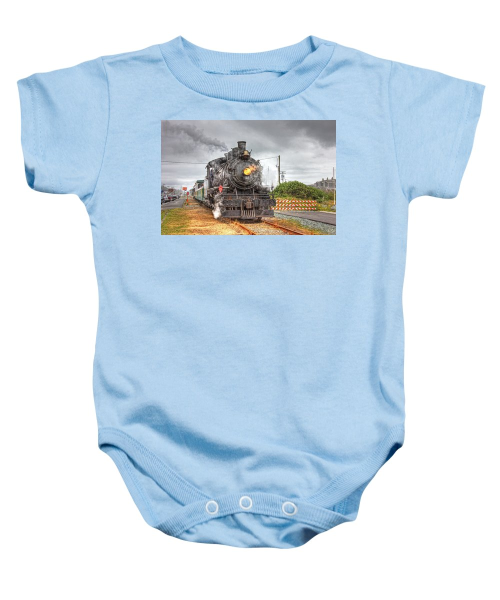 Train Photos Baby Onesie featuring the photograph Engine 25 0040 by Kristina Rinell