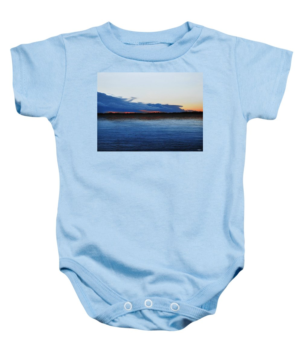 Landscape Baby Onesie featuring the painting Days End by Kenneth M Kirsch