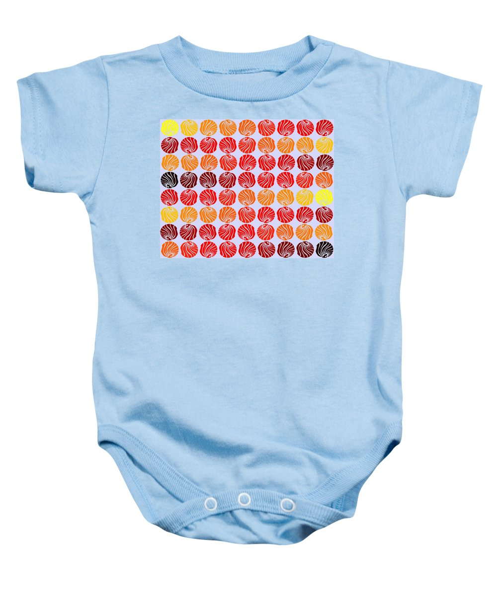 Digital Art Baby Onesie featuring the digital art Fireballs by Sumit Mehndiratta